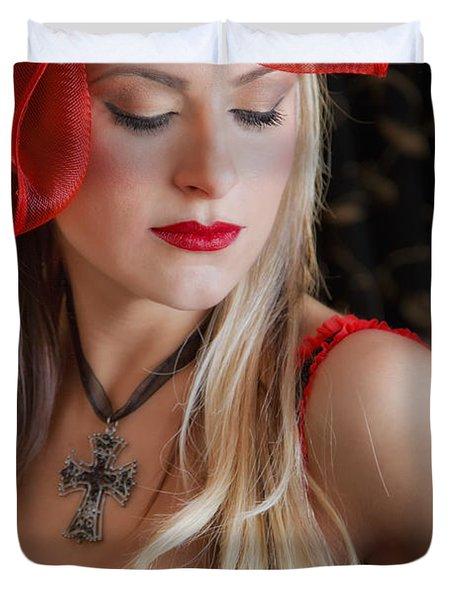Red Hot Duvet Cover by Evelina Kremsdorf