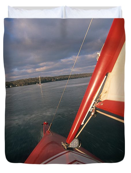 Red Hot Ride - Lake Geneva Wisconsin Duvet Cover