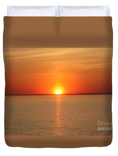 Red-hot Sunset Duvet Cover by John Telfer