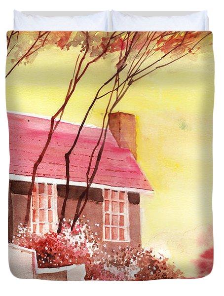 Red House R Duvet Cover by Anil Nene