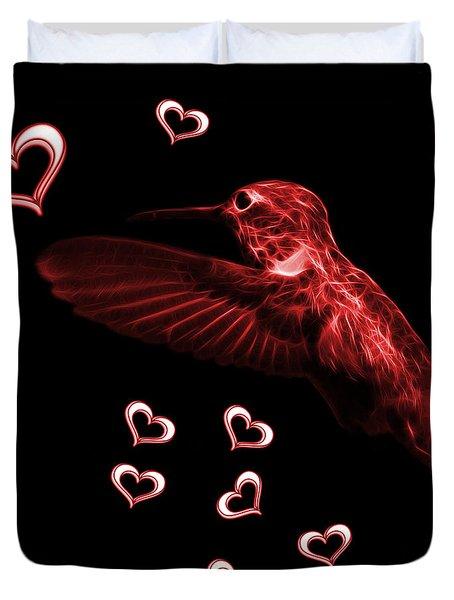 Red Hummingbird - 2055 F M Duvet Cover