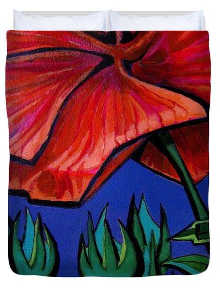 Red Ibiscus - Botanical Duvet Cover