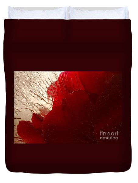 Red Ice Duvet Cover