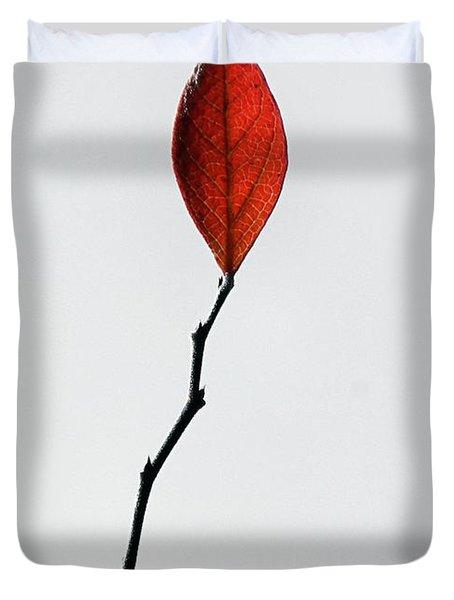 Red Leaf Duvet Cover