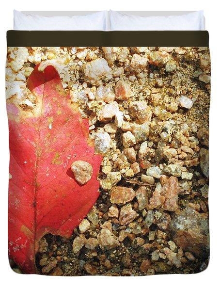 Red Leaf Duvet Cover by Venus