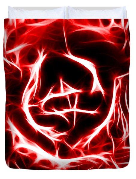 Red Lettuce Duvet Cover
