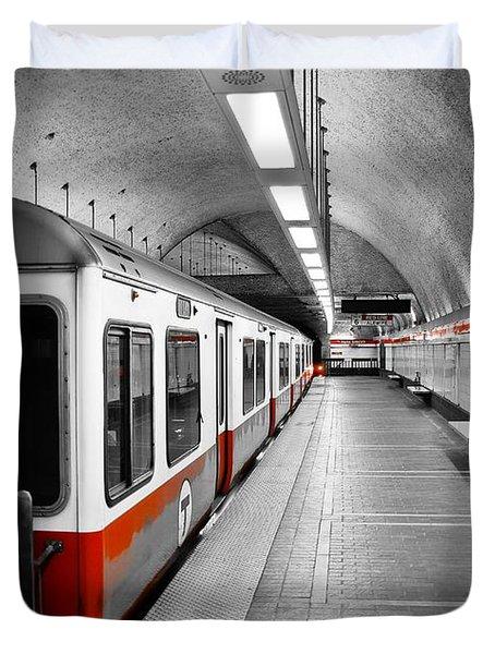 Red Line Duvet Cover