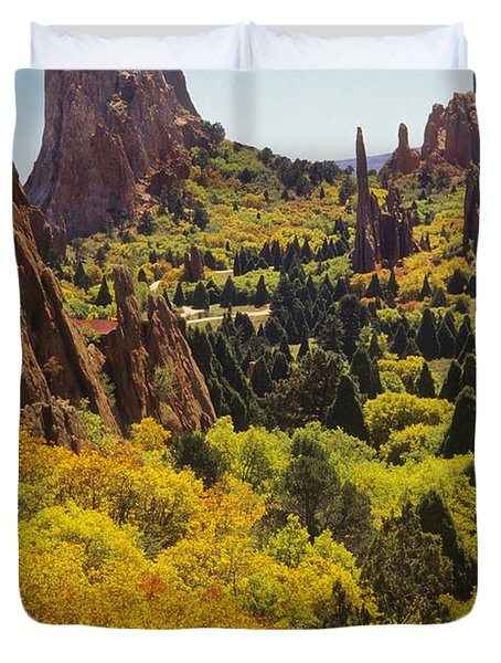 Red Lyons Sandstone Formations Duvet Cover