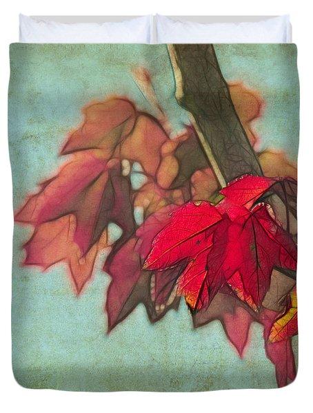 Red Maple Duvet Cover
