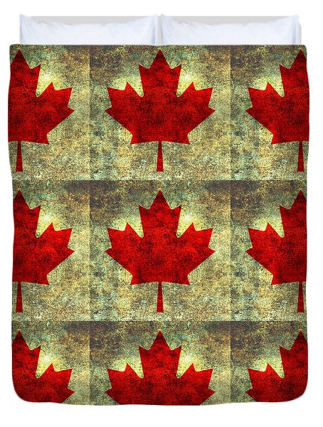 Red Maple Leaf Duvet Cover