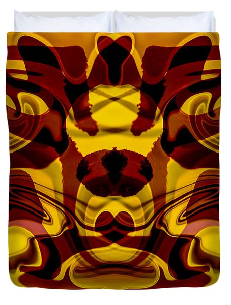 Red Mask Duvet Cover by Omaste Witkowski