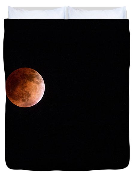 Red Moon And Spica By Denise Dube Duvet Cover