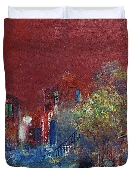 Red Moon Duvet Cover