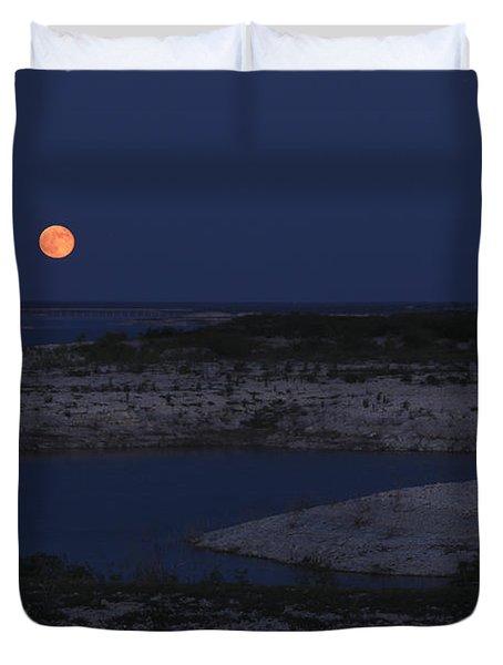Red Moon Rising Duvet Cover