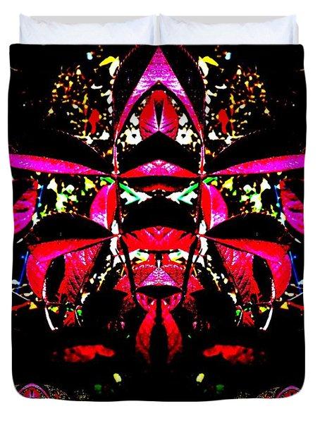 Duvet Cover featuring the digital art Red Mosaic by Aliceann Carlton