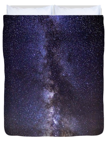 Red Mountain Milky Way Duvet Cover
