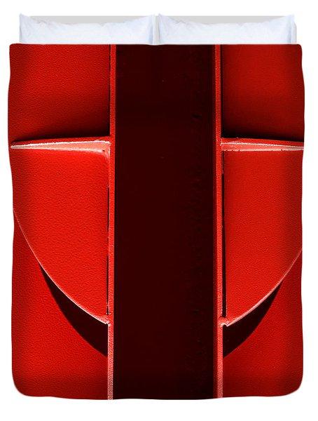 Red Duvet Cover by Newel Hunter