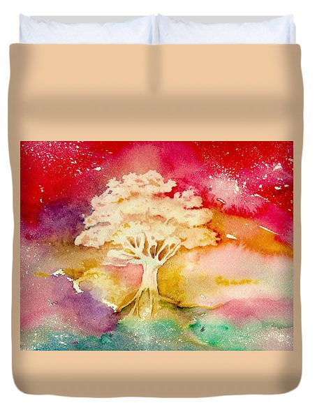 Red Night Duvet Cover