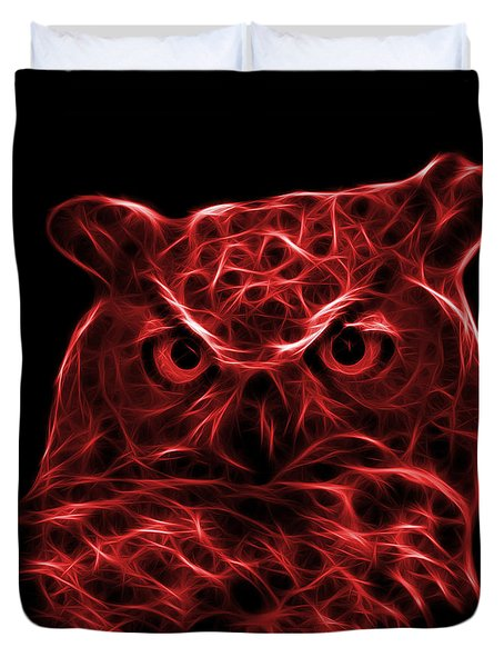 Red Owl 4436 - F M Duvet Cover