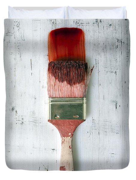 Red Paint Duvet Cover by Joana Kruse