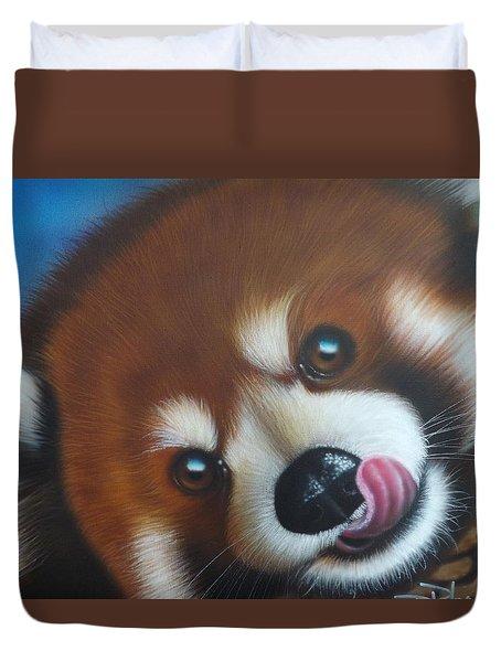 Red Panda Duvet Cover by Darren Robinson