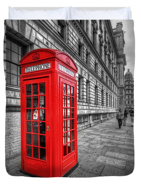 Red Phone Box And Big Ben Duvet Cover