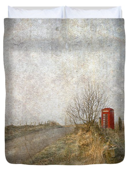 Red Phone Box Duvet Cover