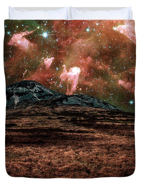 Red Planet Duvet Cover by Semmick Photo