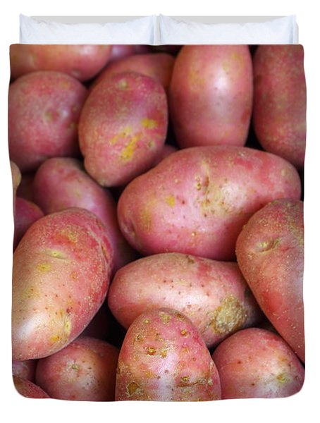 Red Potatoes Duvet Cover by Carlos Caetano