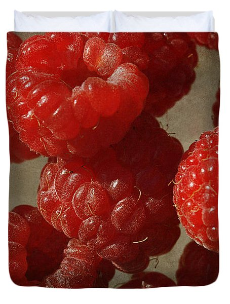 Red Raspberries Duvet Cover