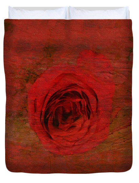 Red Red Rose Duvet Cover by Kathleen Struckle