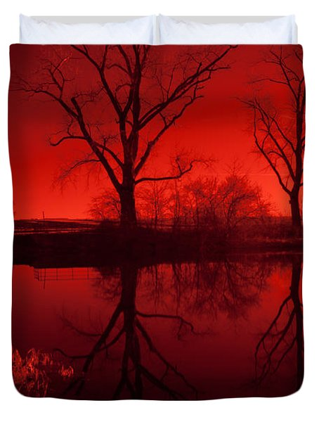 Red Reflections Duvet Cover