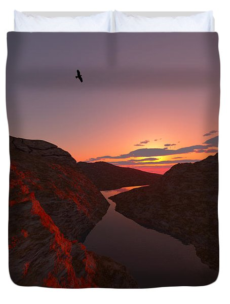 Red River... Duvet Cover by Tim Fillingim