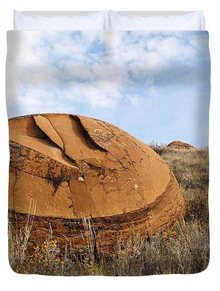Red Rock Coulee I Duvet Cover by Leanna Lomanski