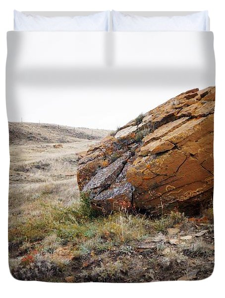 Red Rock Coulee IIi Duvet Cover by Leanna Lomanski