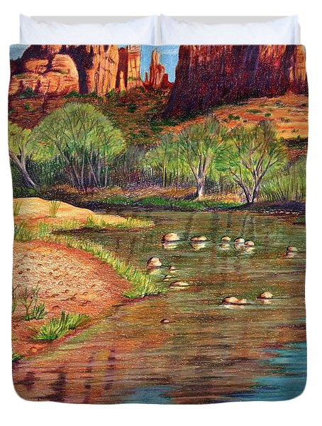Red Rock Crossing-sedona Duvet Cover by Marilyn Smith