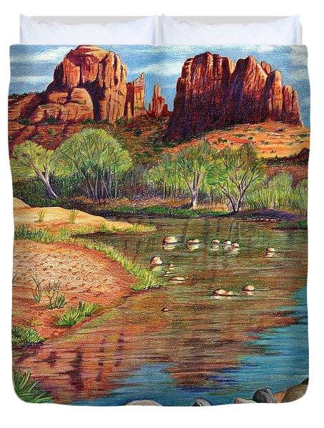Red Rock Crossing-sedona Duvet Cover