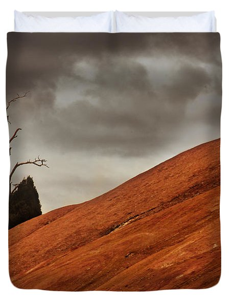 Duvet Cover featuring the photograph Red Rock by Dana DiPasquale
