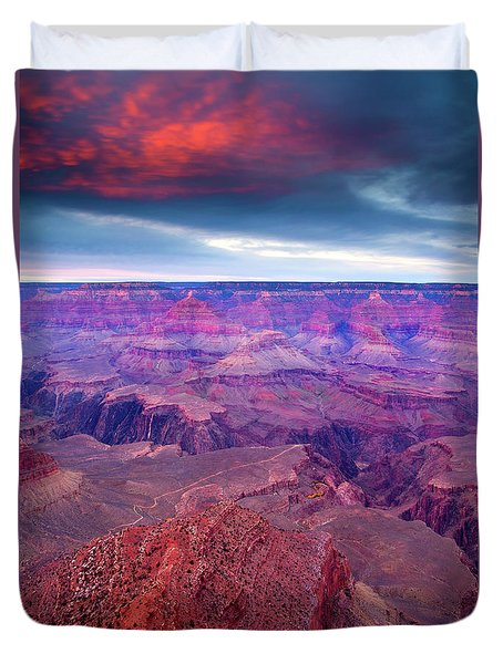 Red Rock Dusk Duvet Cover