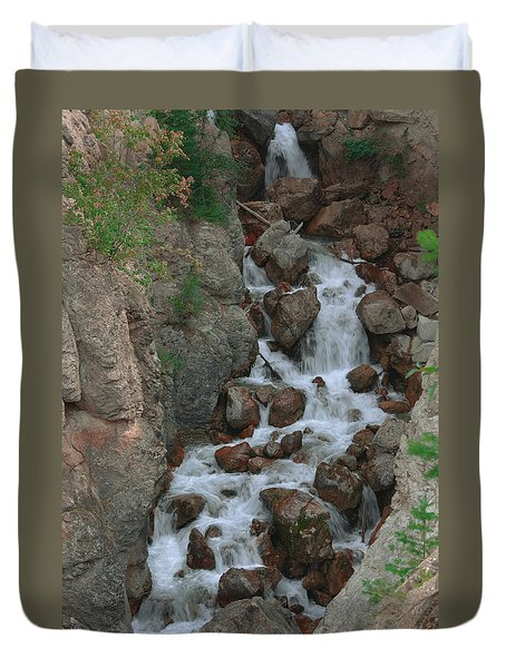 Red Rock Falls Duvet Cover