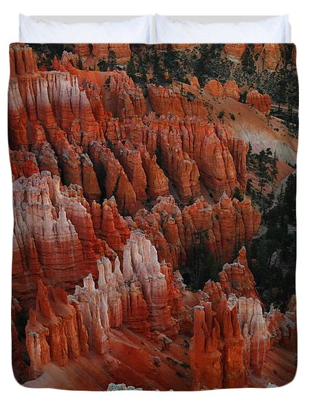 Red Rock Duvet Cover by Jeff Swan