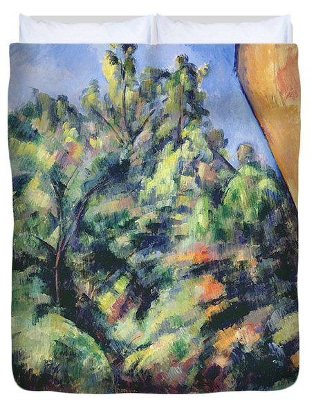Red Rock Duvet Cover by Paul Cezanne