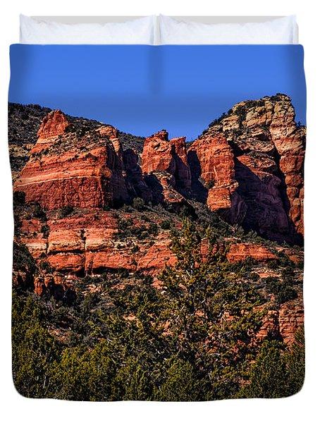 Red Rock Sentinels Duvet Cover