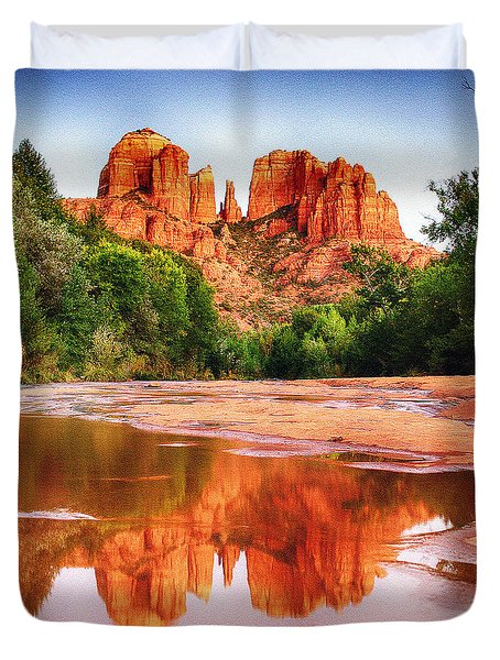 Red Rock State Park - Cathedral Rock Duvet Cover