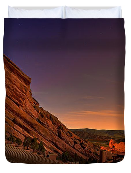Red Rocks Amphitheatre At Night Duvet Cover