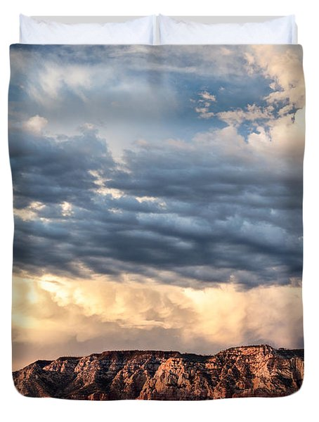 Red Rocks Of Sedona Duvet Cover by Dave Bowman