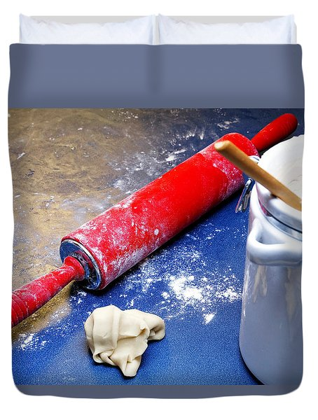 Red Rolling Pin Duvet Cover