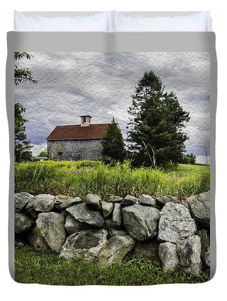 Red Roof Barn - Haverhill Ma Duvet Cover