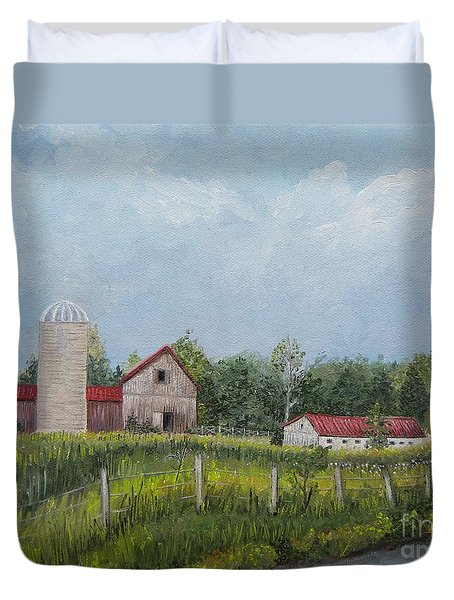 Red Roof Barns Duvet Cover