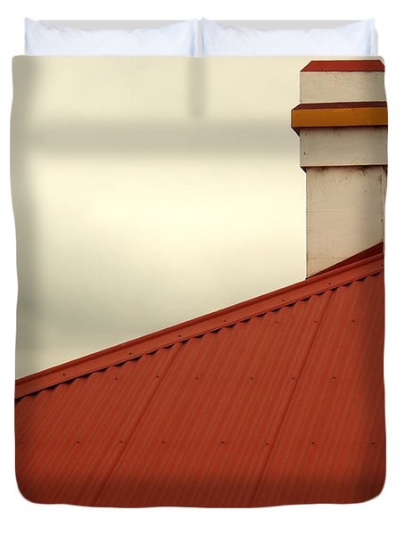 Red Roof Duvet Cover by Kaleidoscopik Photography
